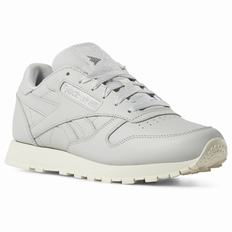 Reebok Classic Leather Womens Grey/Silver/White Sneakers (947KORGA)